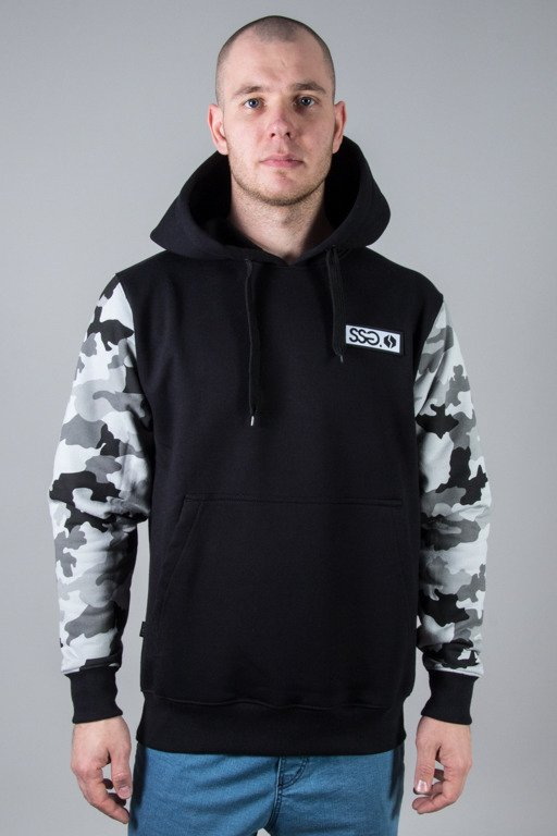 SSG HOODIE MORO SLEEVES CAMO LIGHT BLACK