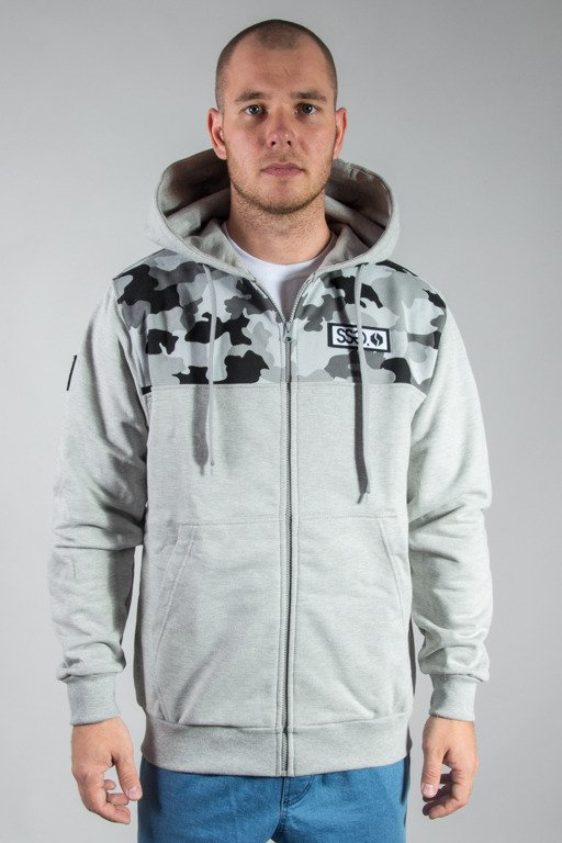 SSG HOODIE ZIP HALF MORO MELANGE CAMO LIGHT GREY