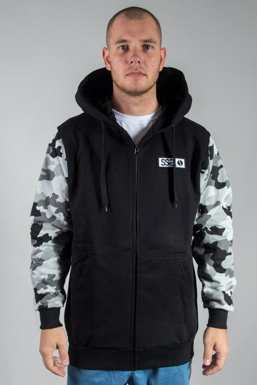 SSG HOODIE ZIP MORO SLEEVES BLACK CAMO LIGHT GREY
