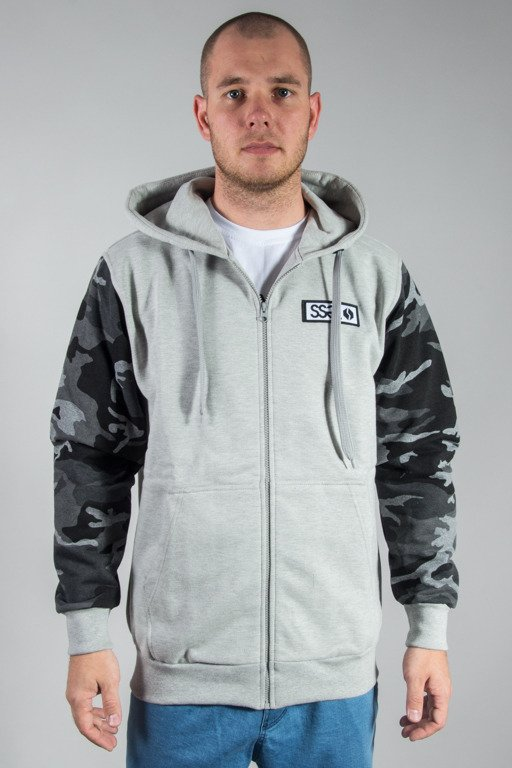 SSG HOODIE ZIP MORO SLEEVES MELANGE CAMO DARK GREY