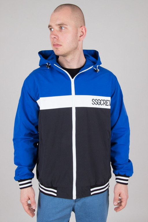 SSG JACKET ZIP COLOR BLACK-BLUE