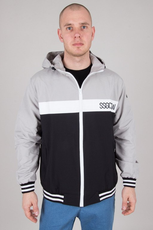 SSG JACKET ZIP COLOR BLACK-GREY