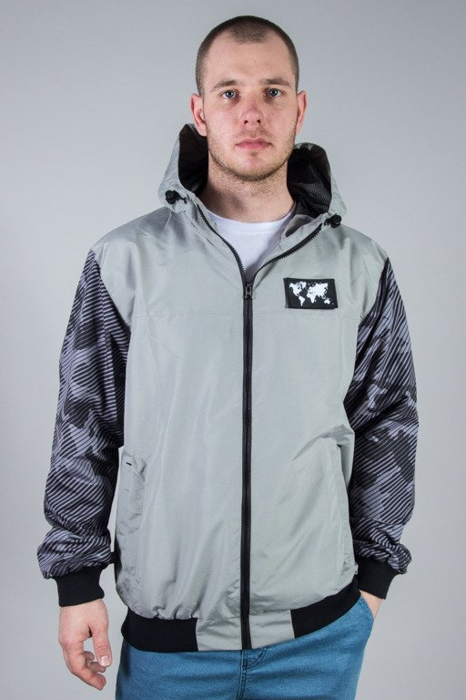 SSG JACKET ZIP MORO SLEEVES GREY