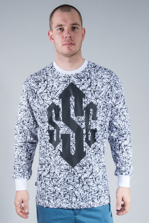 SSG LONGSLEEVE PREM DAMAGE WHITE