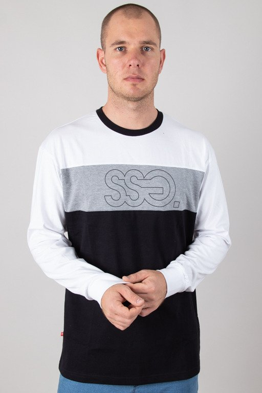 SSG LONGSLEEVE TRIPLE OUTLINE WHITE-GREY