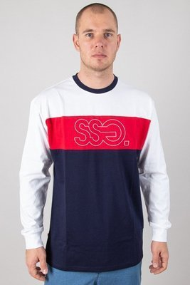 SSG LONGSLEEVE TRIPLE OUTLINE WHITE-RED-NAVY