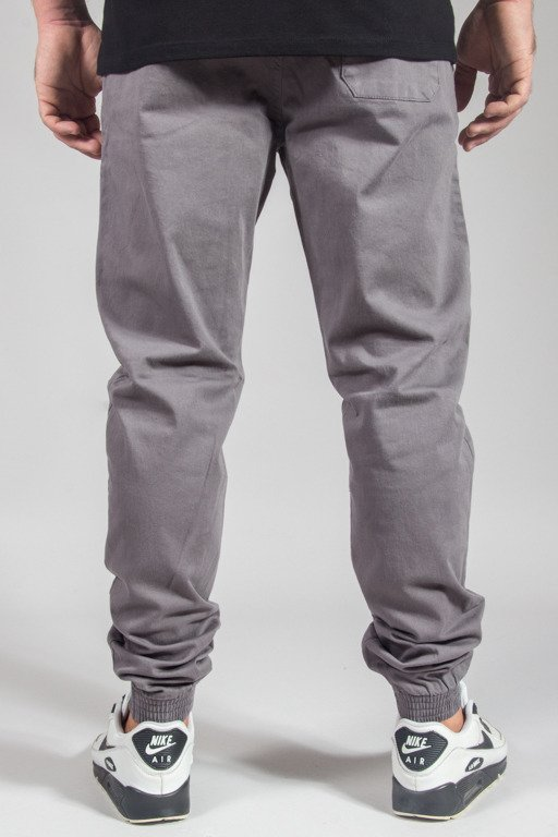 SSG PANTS CHINO JOGGER SLIM KLASYK GREY