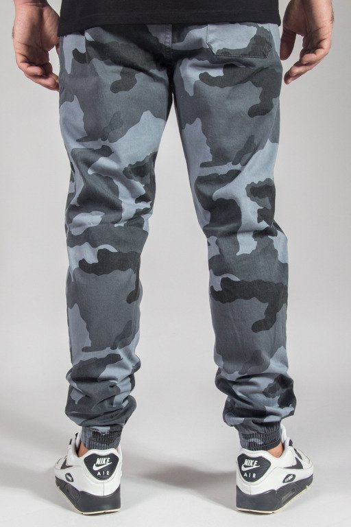 SSG PANTS CHINO JOGGER SLIM KLASYK MIEJSKIE MORO GREY