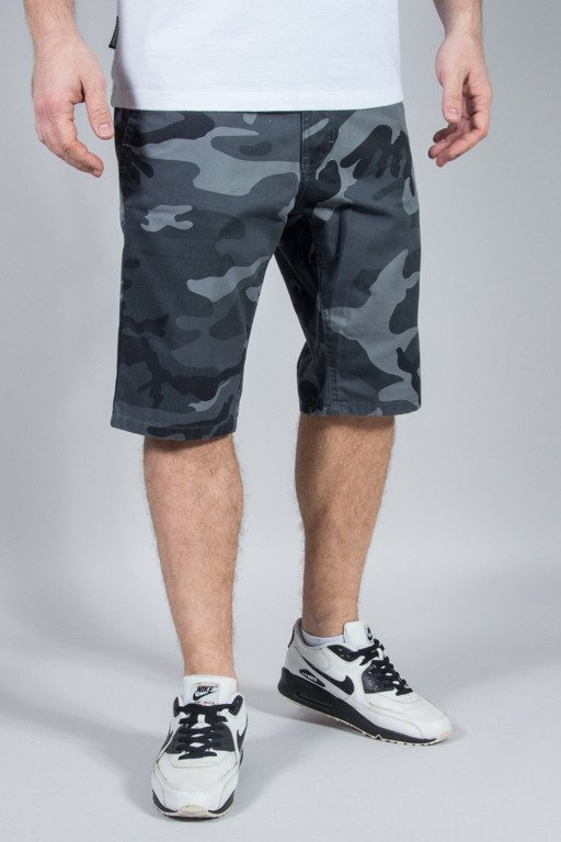 SSG SHORTS CHINO SLIM MORO MIEJSKIE GREY