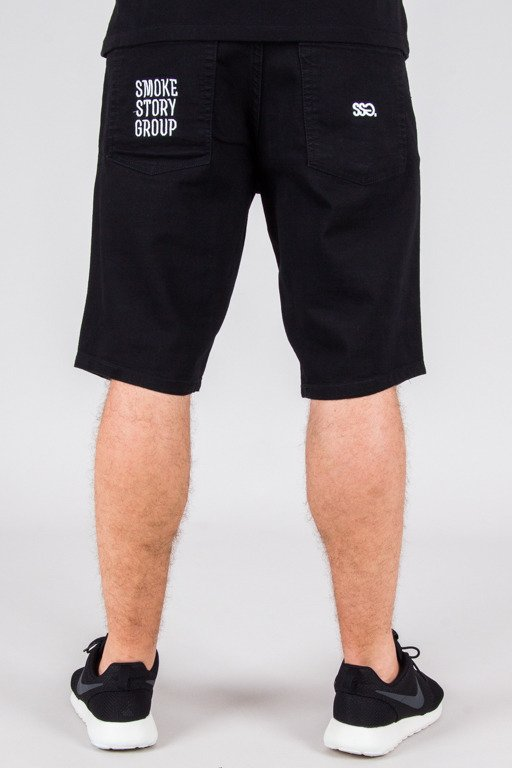 SSG SHORTS JEANS DOUBLE POCKET BLACK