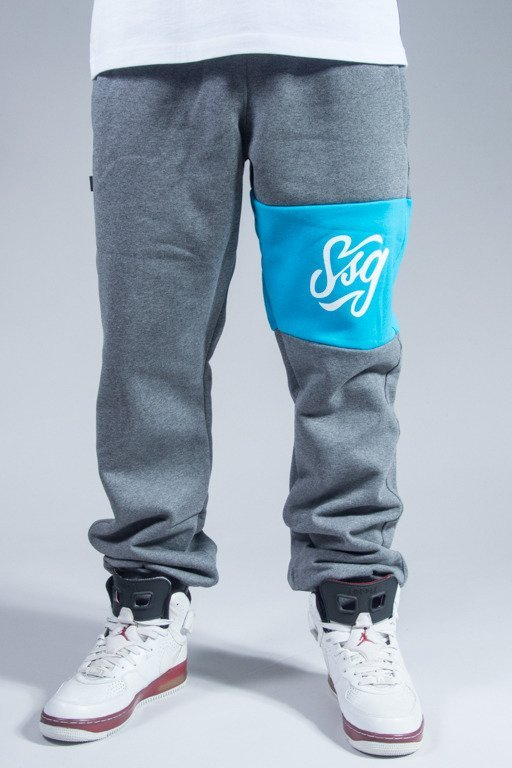 SSG SWEATPANTS COLORS LINE REGULAR GREY-BLUE