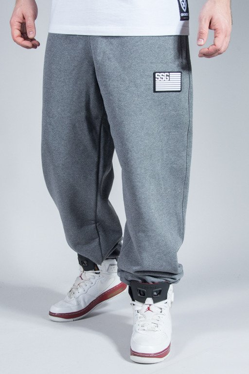 SSG SWEATPANTS FLAG BAGGY GREY