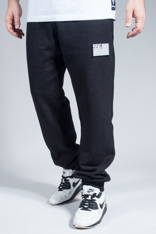 SSG SWEATPANTS FLAG JOGGER BLACK