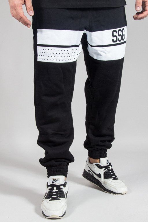 SSG SWEATPANTS JOGGER LINES BLACK