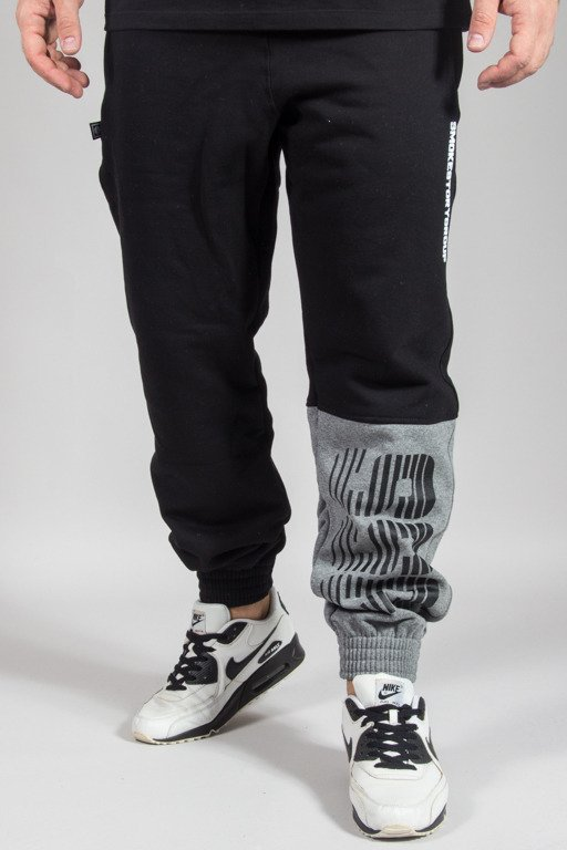 SSG SWEATPANTS JOGGER ONE SIDE LINES BLACK