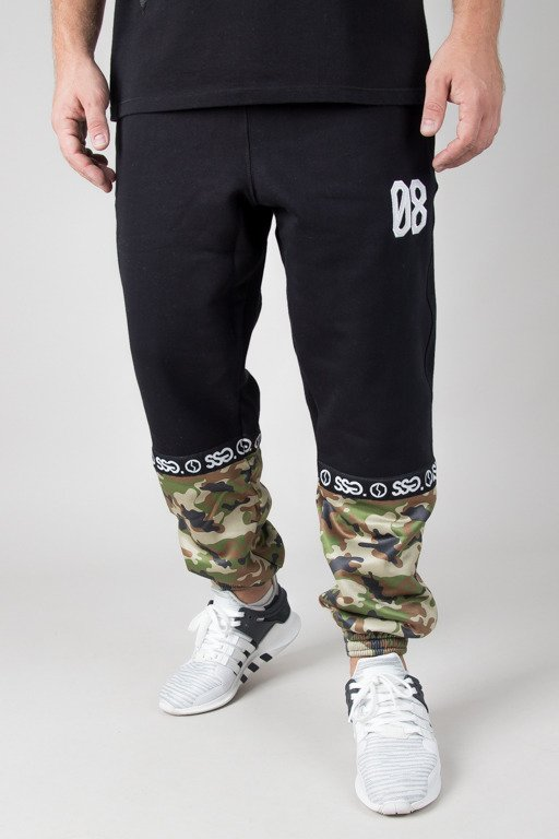 SSG SWEATPANTS JOGGER PART LINE BLACK-CAMO