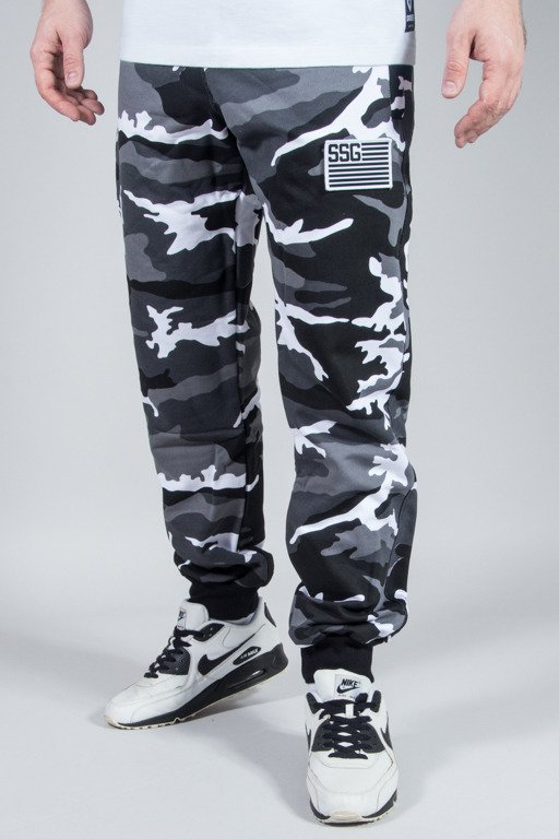 SSG SWEATPANTS PREMIUM MORO FLAG BLACK-WHITE