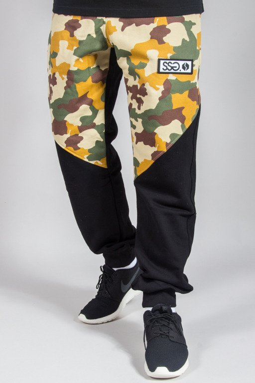 SSG SWEATPANTS PREMIUM REGULAR MORO FRONT BLACK CAMO LIGHT