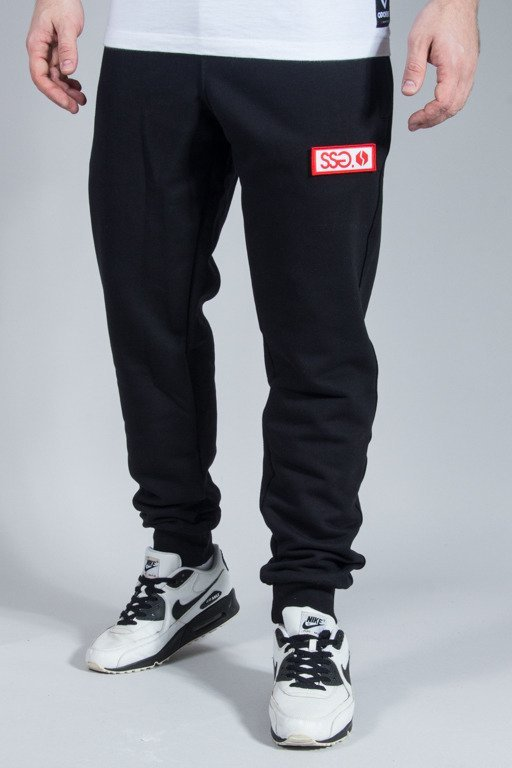 SSG SWEATPANTS SLIM LOGO BLACK