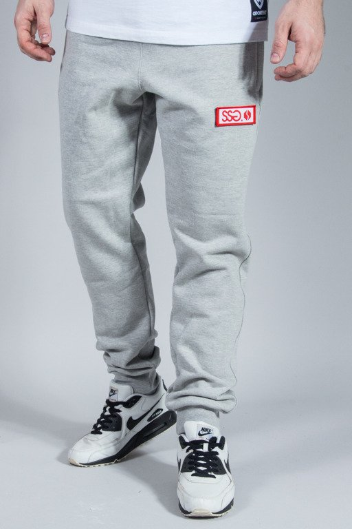 SSG SWEATPANTS SLIM LOGO MELANGE