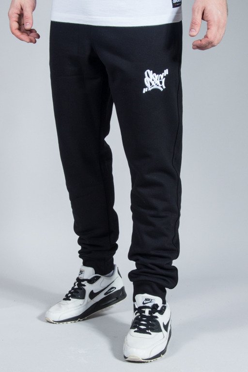 SSG SWEATPANTS SLIM SMALL SMOKE TAG BLACK