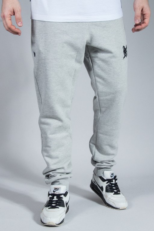 SSG SWEATPANTS SLIM SMALL SMOKE TAG MELANGE