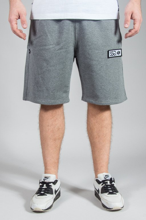 SSG SWEATSHORTS LOGO GREY