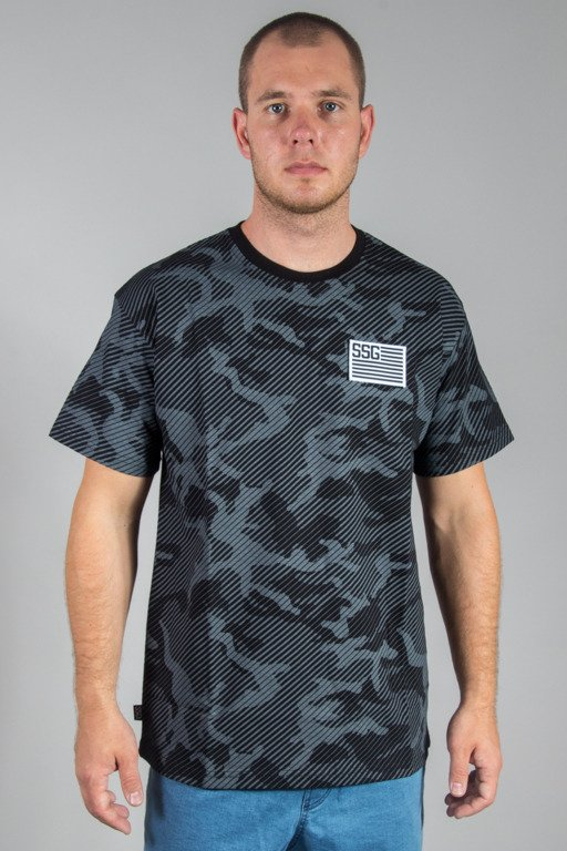 SSG T-SHIRT FLAG MORO LINE BLACK