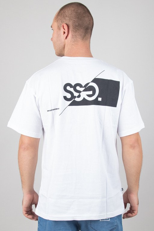 SSG T-SHIRT FRONT BACK CUT LOGO WHITE