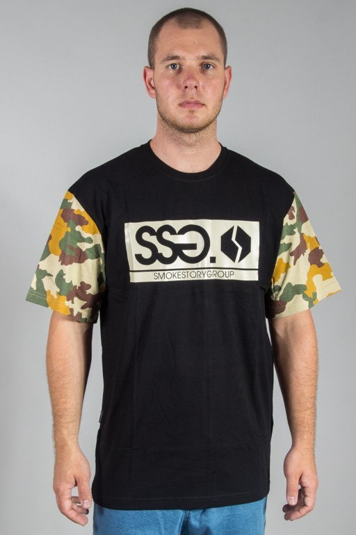 SSG T-SHIRT MORO SLEEVES BLACK-BEIGE LIGHT CAMO
