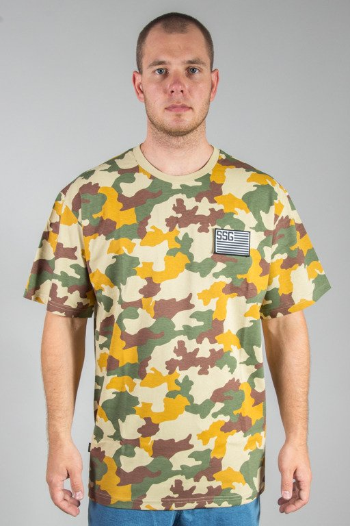 SSG T-SHIRT PREMIUM FLAG MORO CAMO LIGHT
