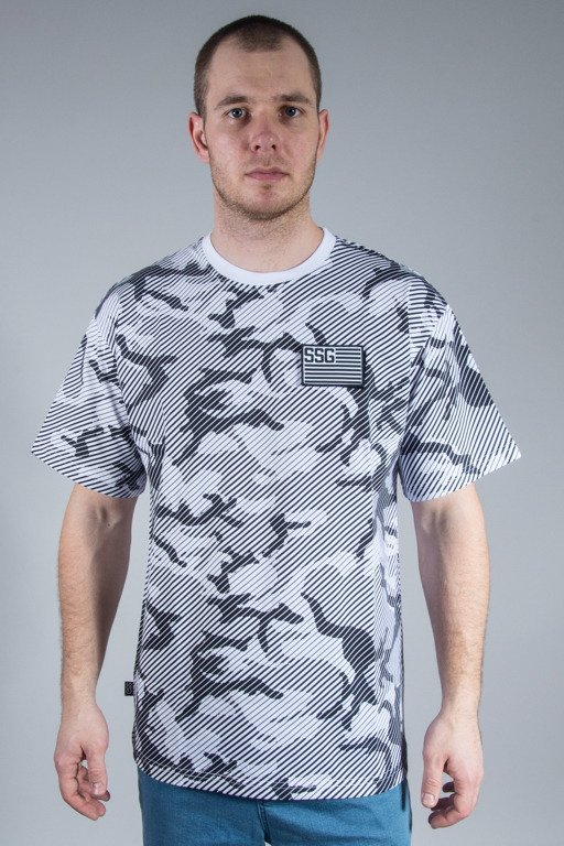SSG T-SHIRT PREMIUM FLAG MORO LINE WHITE-GREY