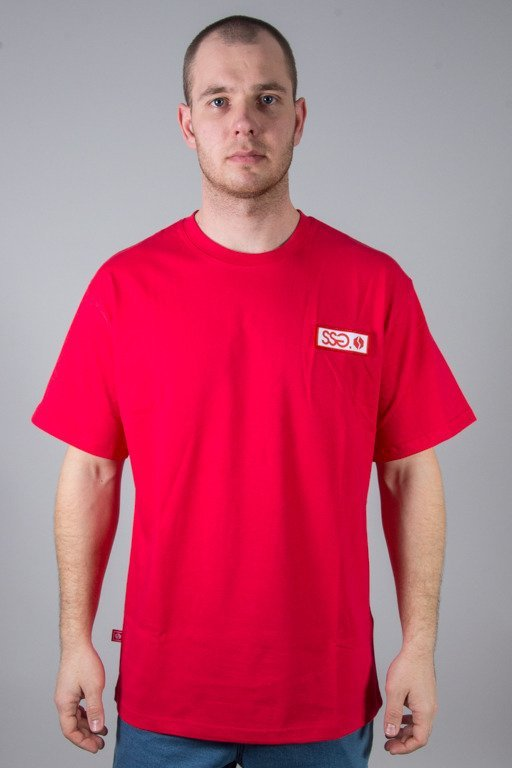 SSG T-SHIRT STREET COLORS LOGO RED