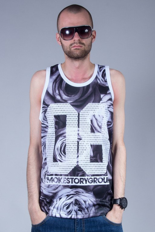 SSG TANK TOP FULLPRINT ROSE BW
