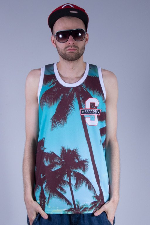 SSG TANK TOP PALMS WHITE