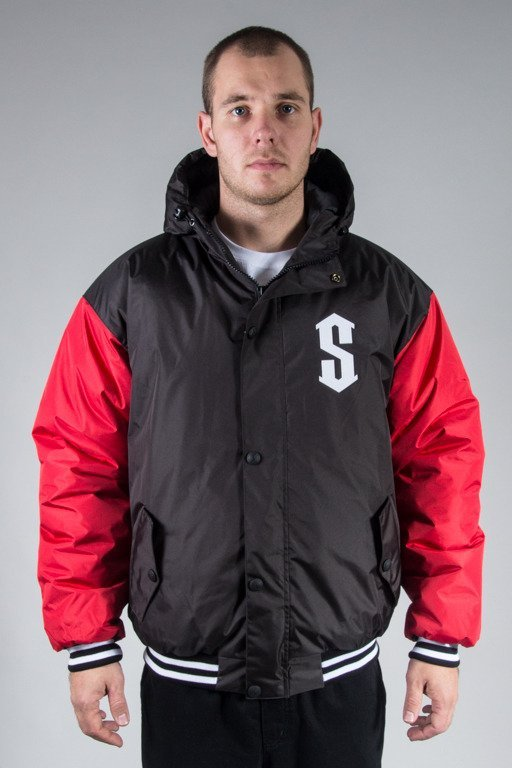 SSG WINTER JACKET FLYERS DOUBLE COLOR BLACK-RED