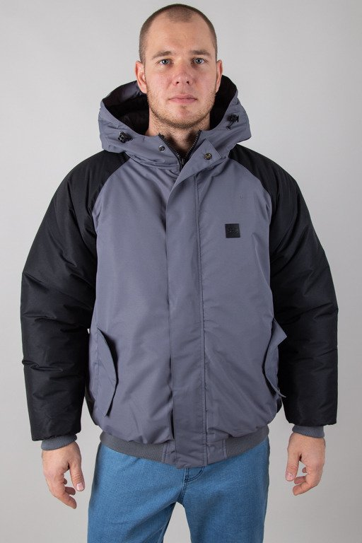 SSG WINTER JACKET FLYERS DOUBLE REGLAN GREY-BLACK