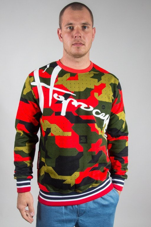 STOPROCENT CREWNECK DOWNHILL17 CAMU RED