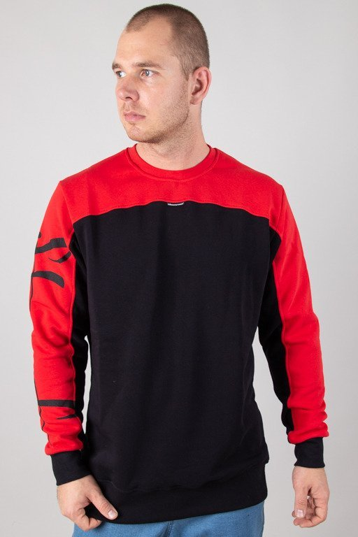STOPROCENT CREWNECK TAGSLEEVE BLACK-RED