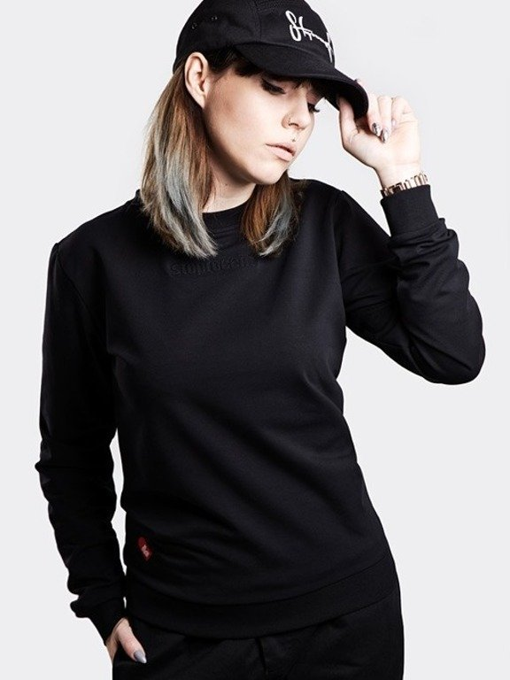 STOPROCENT CREWNECK WOMAN SIMPLE BLACK