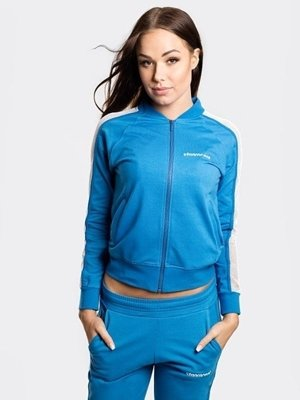 STOPROCENT CREWNECK ZIP WOMAN MESH BLUE