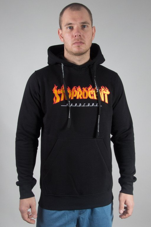 STOPROCENT HOODIE TRASHER17 BLACK