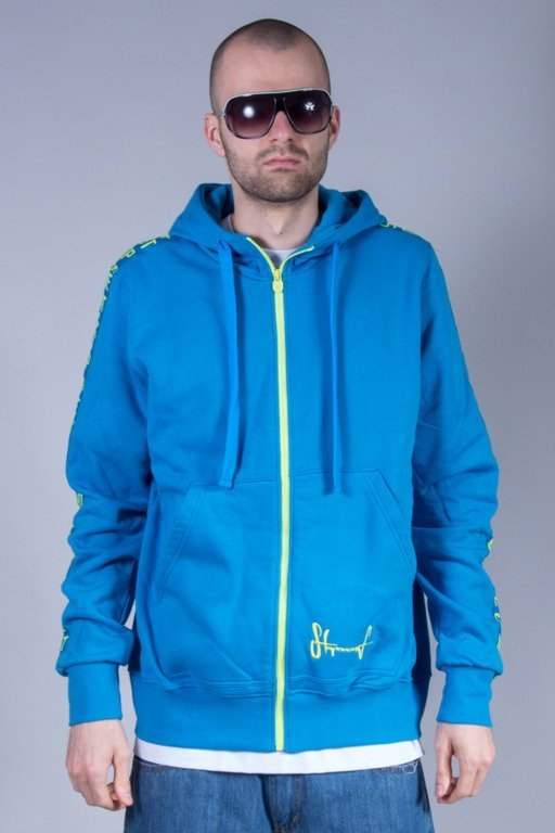 STOPROCENT HOODIE ZIP BIG S16 BLUE