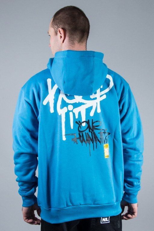 STOPROCENT HOODIE ZIP KEEP IT BLUE