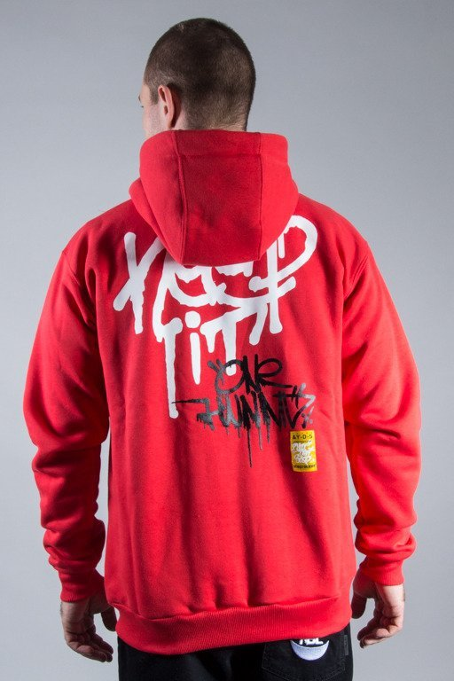 STOPROCENT HOODIE ZIP KEEP IT RED