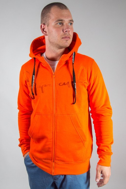 STOPROCENT HOODIE ZIP TAGZIP17 ORANGE