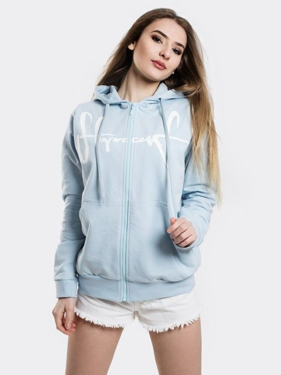 STOPROCENT HOODIE ZIP WOMAN TAG18 BLUE