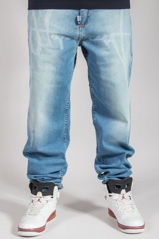 STOPROCENT JEANS BAGGY TAG BLUE
