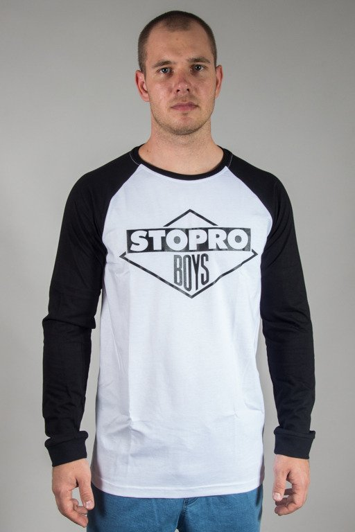 STOPROCENT LONGSLEEVE STOPROBOYS WHITE-BLACK
