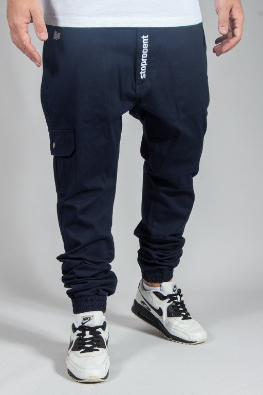 STOPROCENT PANTS CHINO JOGGER ARMY 17 NAVY